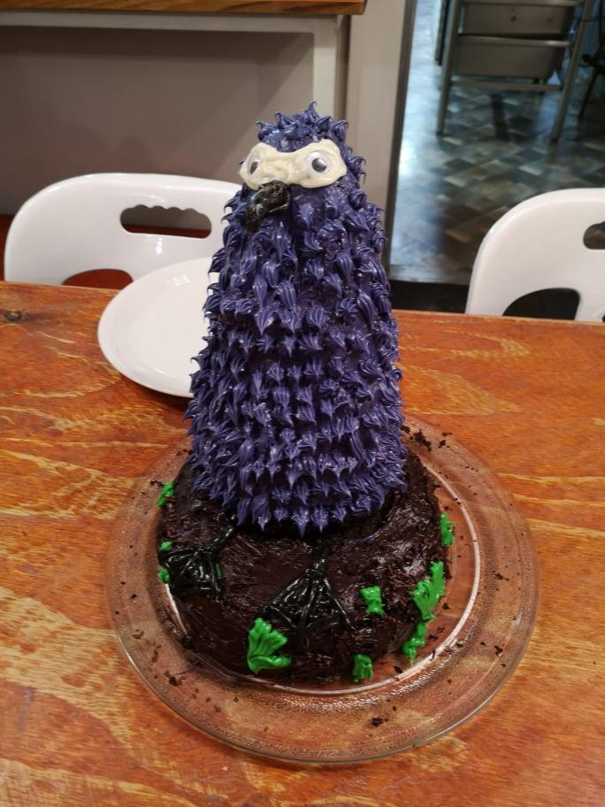 Alexis Osborne Sooty Albatross chick birthday cake