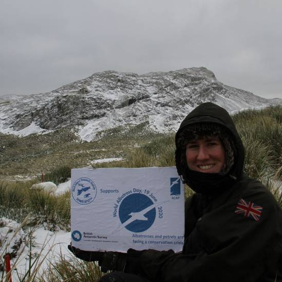 And the winner of the World Albatross Day Banner Challenge is … Alex Dodds on Bird Island!