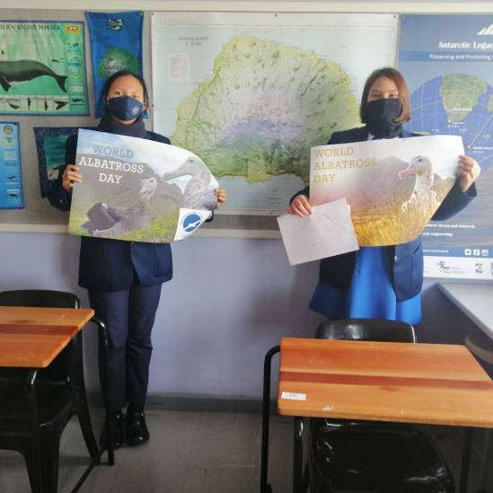 Marine Sciences learners at South Africa's Protea Heights Academy celebrated the first World Albatross Day with individual creativity