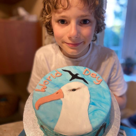 """Petey the Albatross"" - Runner up in the Great Albicake Bake Off reveals a budding baker"